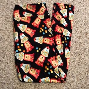 Lularoe Gumball Machines Leggings NWOT